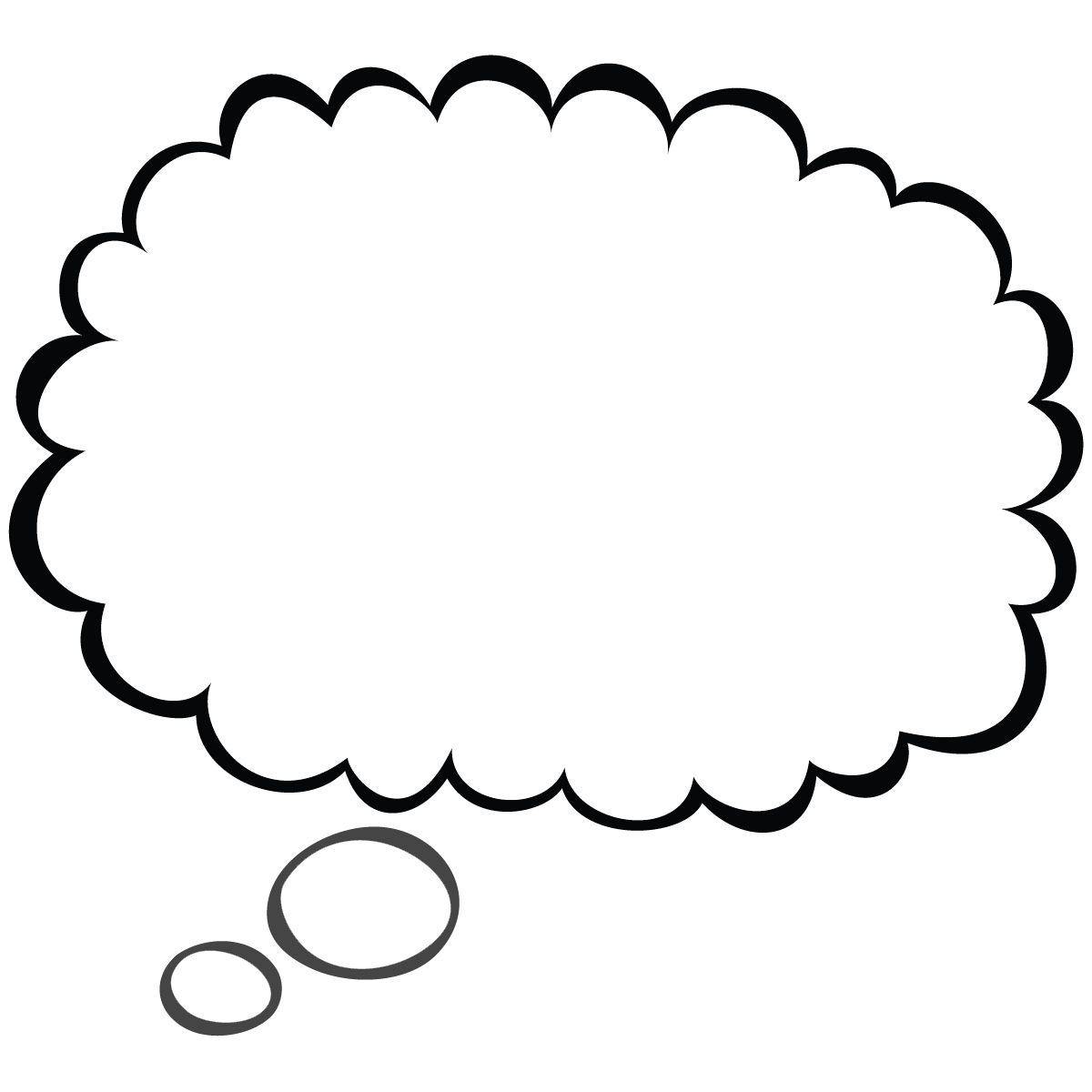 Word Bubble Printable Thought Bubbles Clipart Image