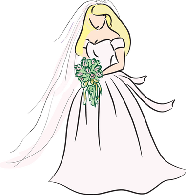 Bridal Blonde Bride Drawing Bing Images Clipart Image 26279