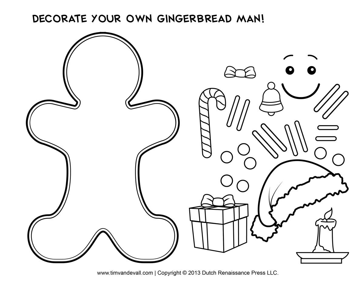 Gingerbread Man Gingerbread Clip Art Image
