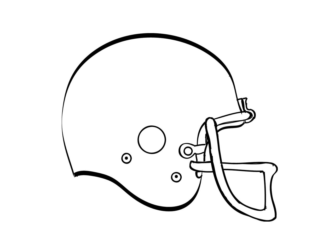 Clipart Football Helmet Black And White Free 2 Image
