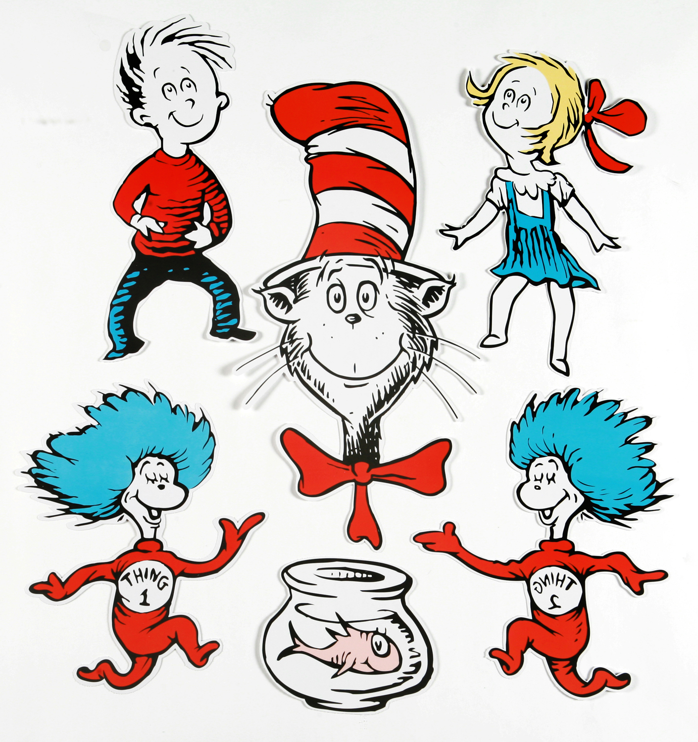 Cat In The Hat Thing 1 And Thing 2 Clip Art