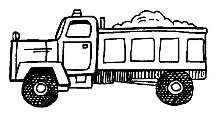 Garbage Truck Outline Clip Art