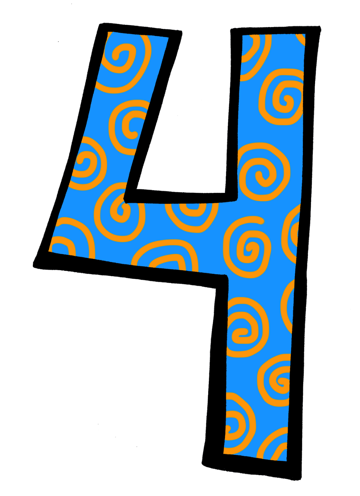 Clip Art Number 4 Clipart Image