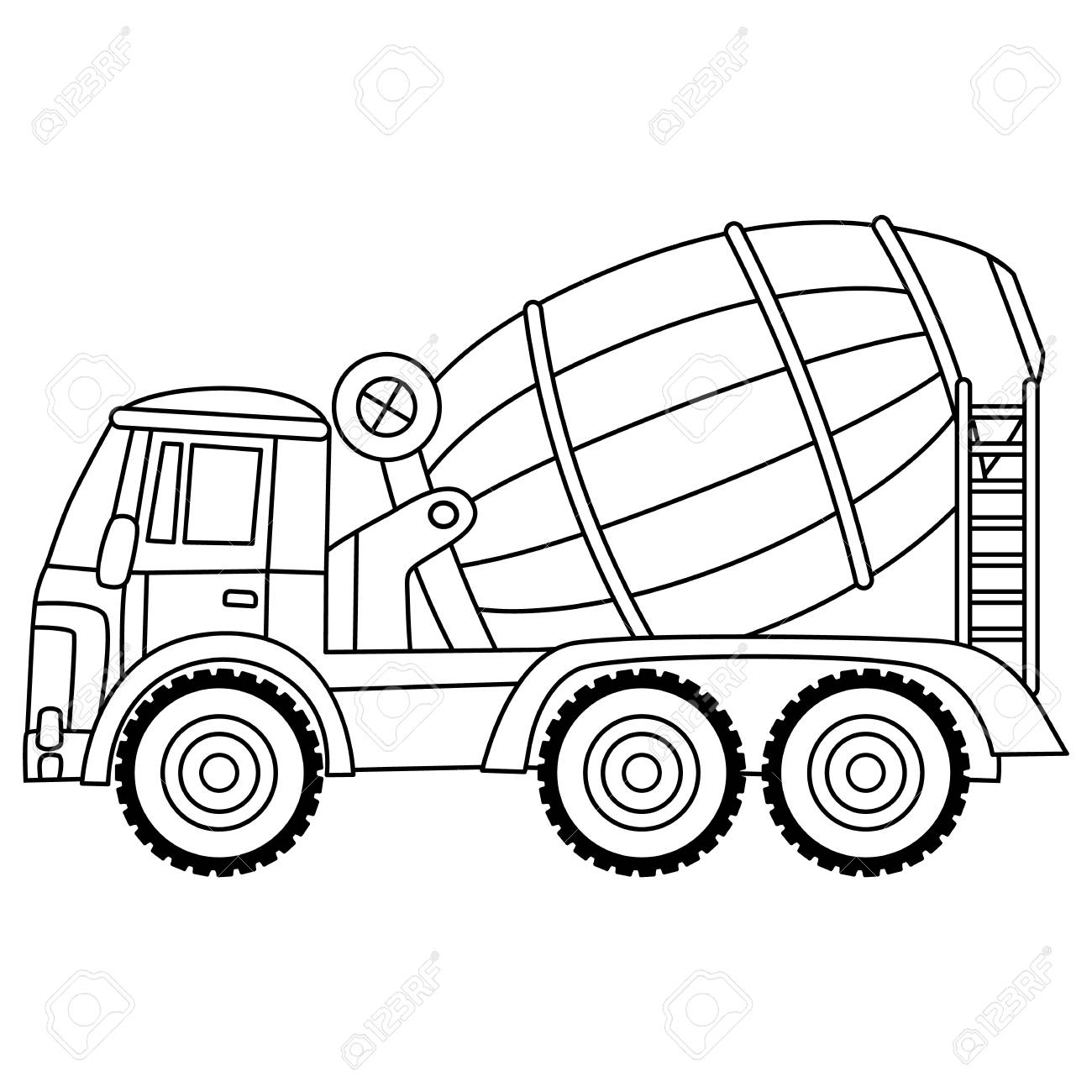 Construction Vehicle Clipart Black And White Pictures On