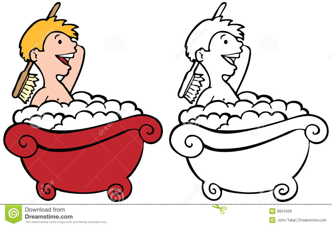 Bathing Clipart Black And White 5 Clipart Station