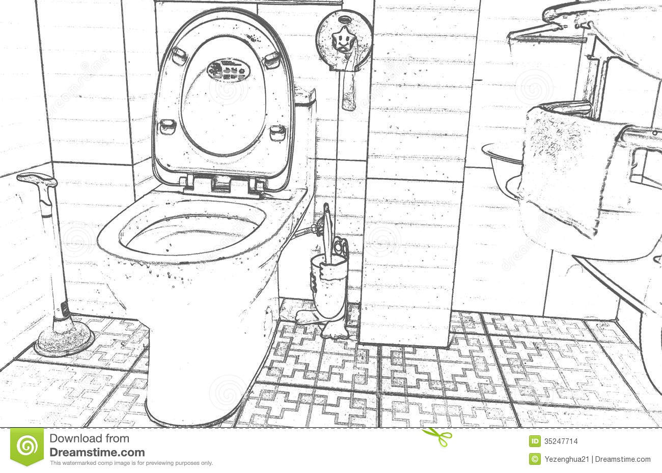 Bathroom Clipart Black And White Clipart Station