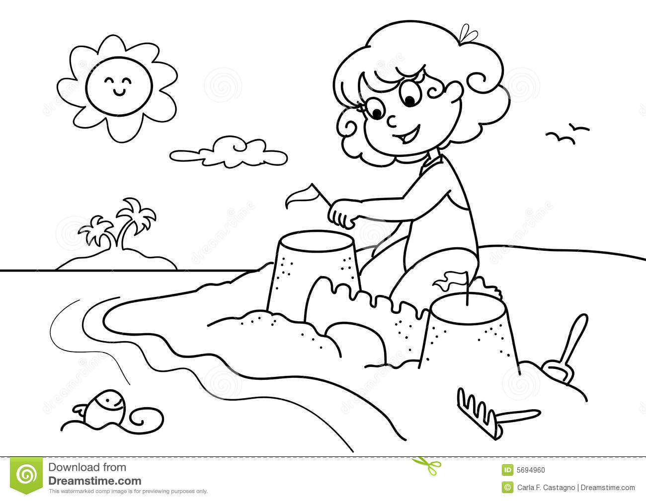 Beach Clipart Black And White 6 Clipart Station