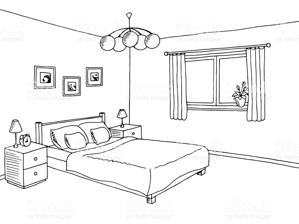 Bedroom Clipart Black And White 2 Clipart Station