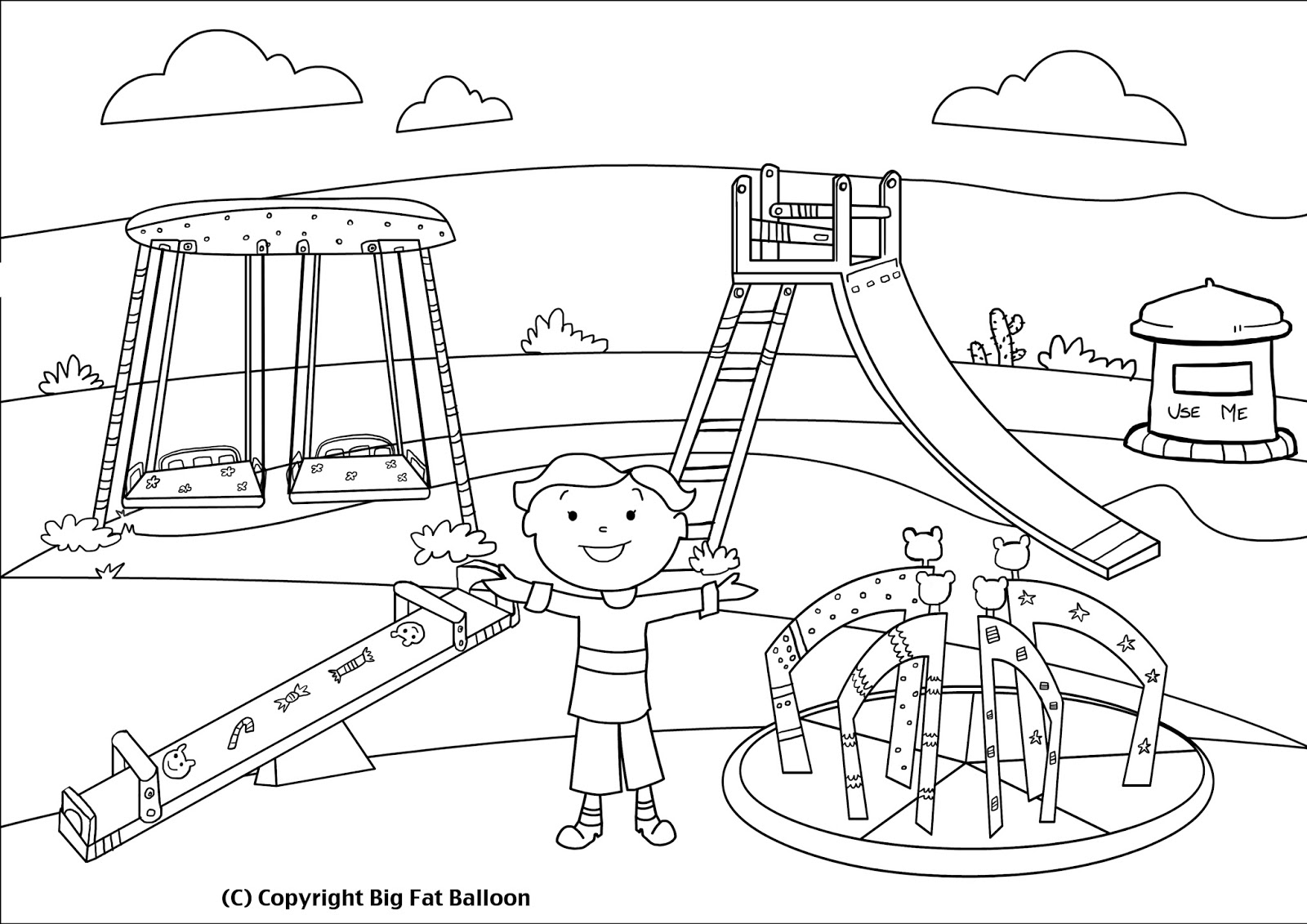 Children Playing In The Park Clipart Black And White 8 Clipart Station