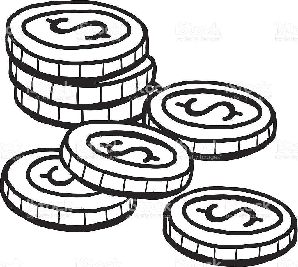 Coin Clipart Black And White 4 Clipart Station