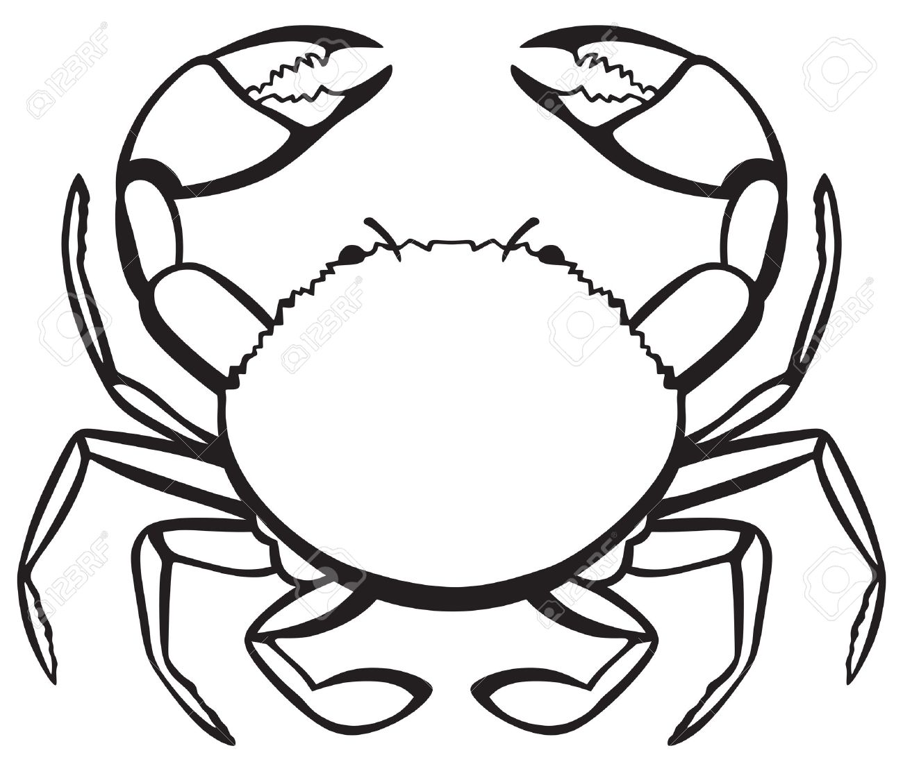 Crab Clipart Black And White 7 Clipart Station