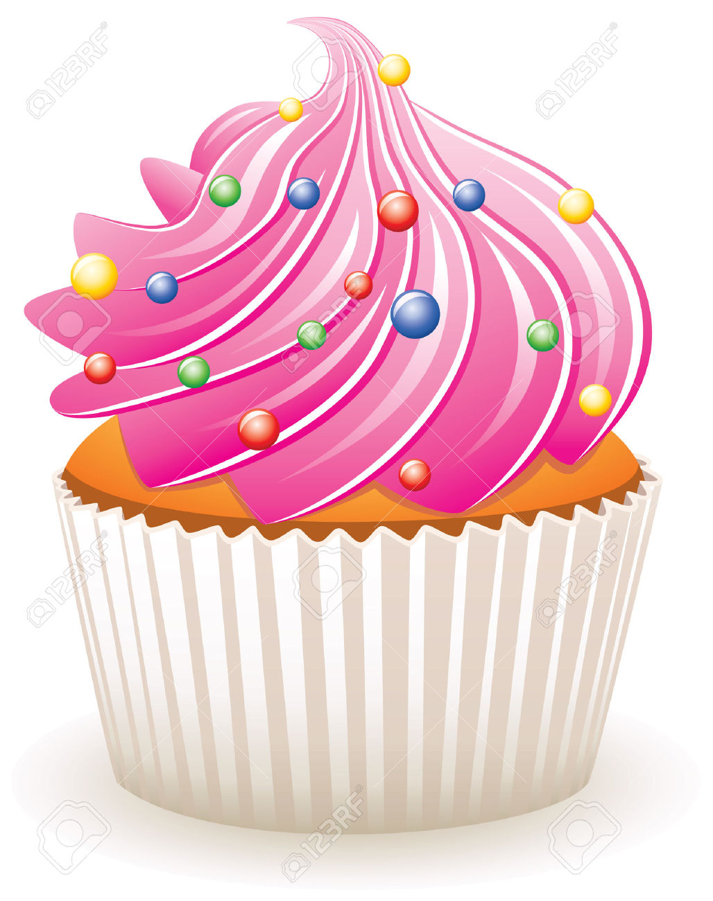 Cupcakes With Sprinkles Clipart 10 187 Clipart Station