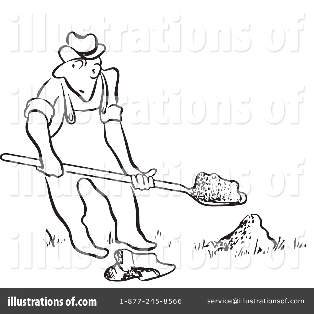 Dig Clipart Black And White 7 Clipart Station