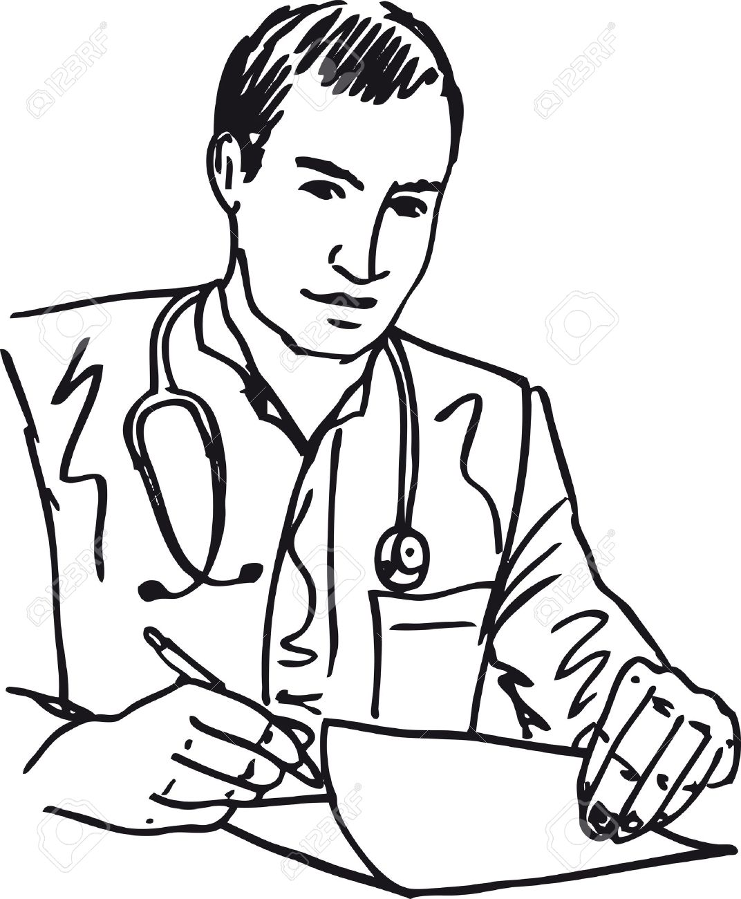 Doctor Black And White Clipart 6 Clipart Station