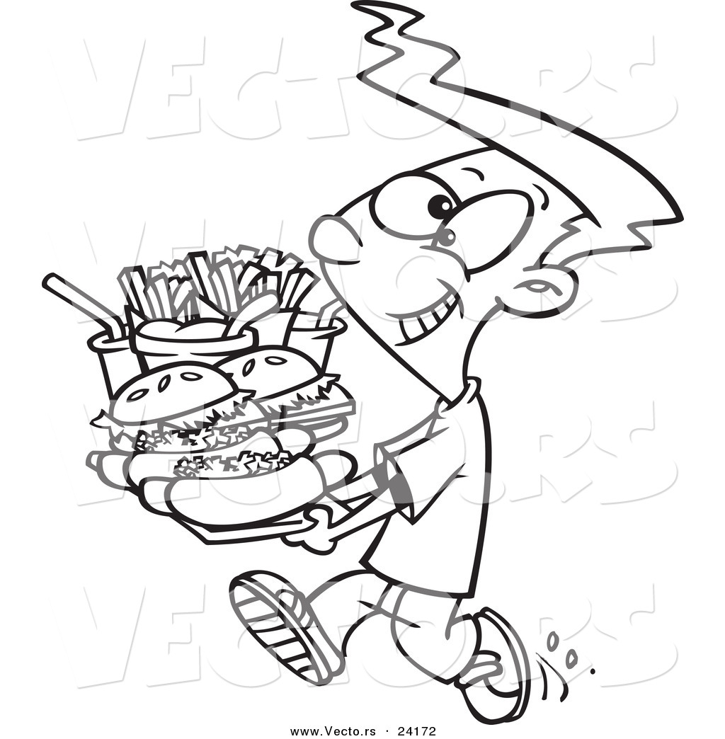 Eating Junk Food Clipart Black And White 7 Clipart Station