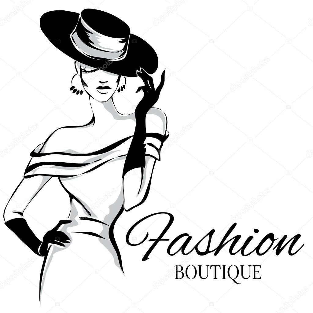 Fashion Lady Clipart Black And White 9 Clipart Station