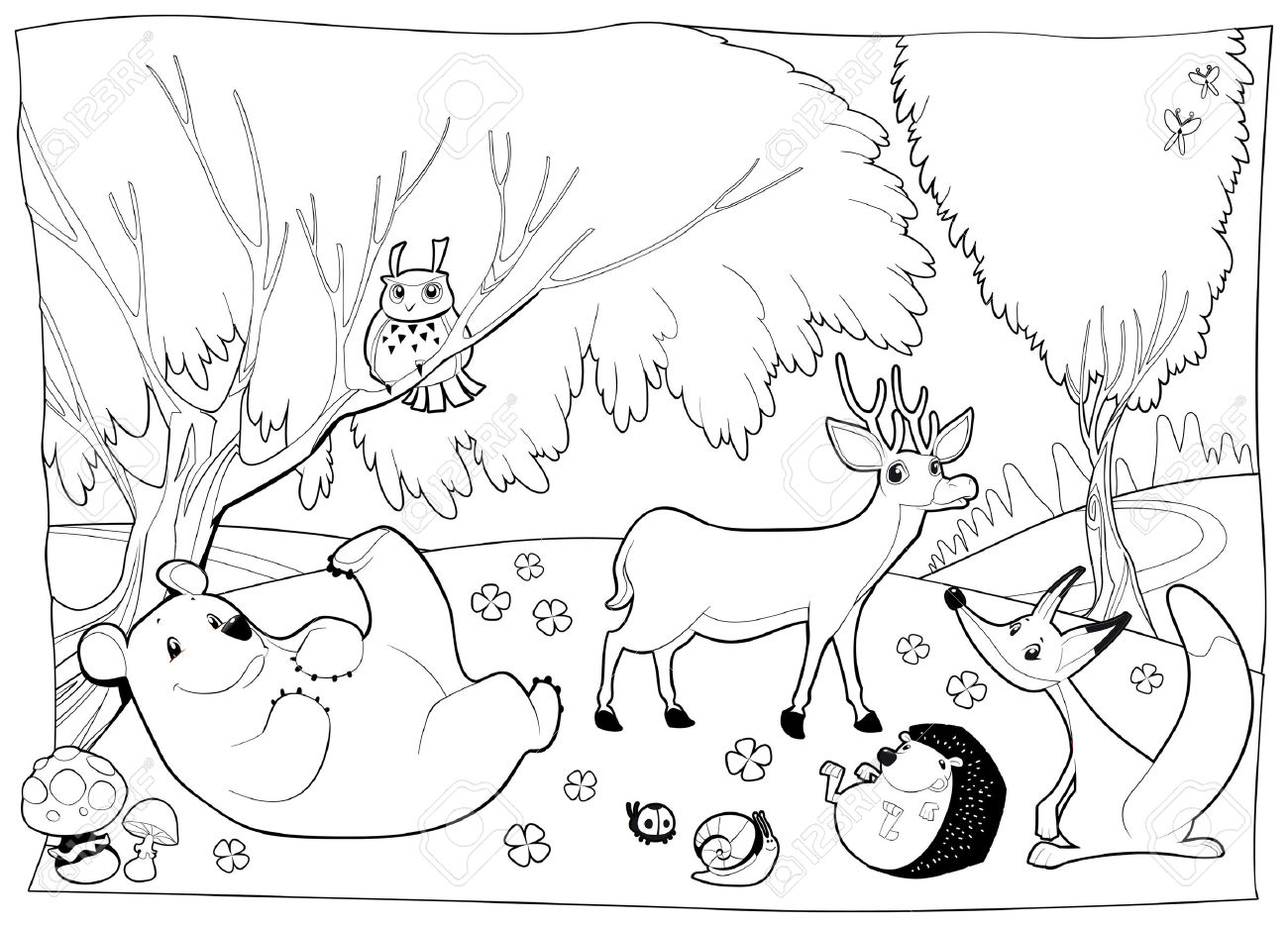 Forest Clipart Black And White 7 Clipart Station