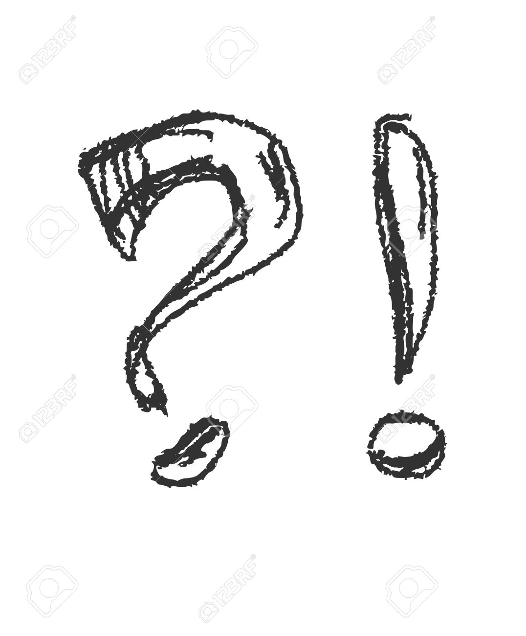 Question Mark Exclamation Mark Vector Eps8 Clipart Station