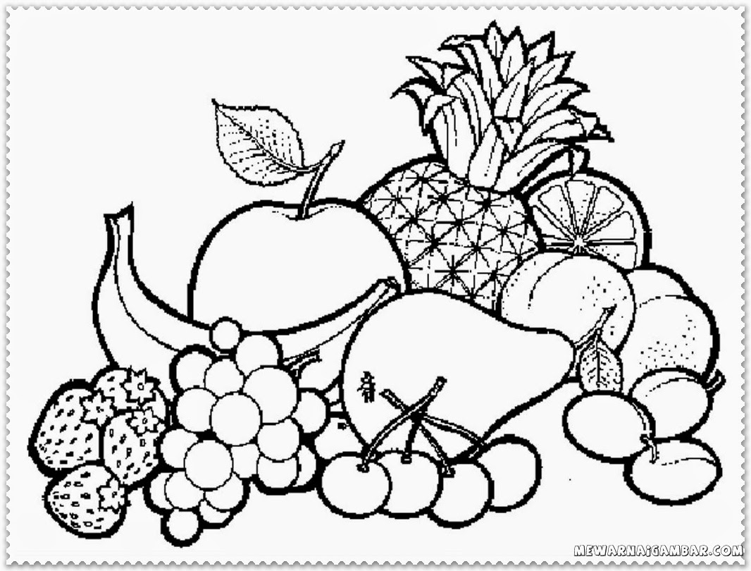 Fruits Basket Clipart Black And White 6 Clipart Station