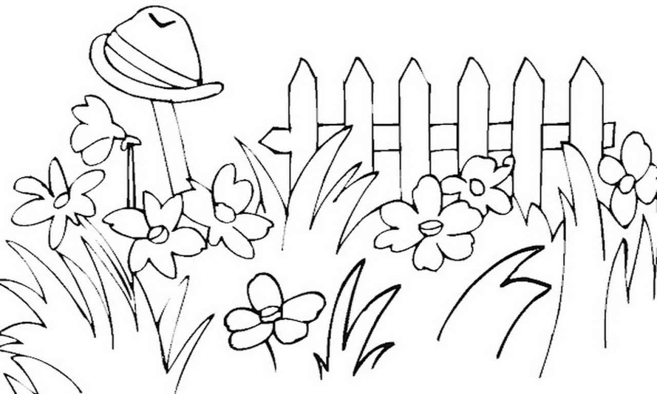 Garden Clipart Black And White 2 Clipart Station