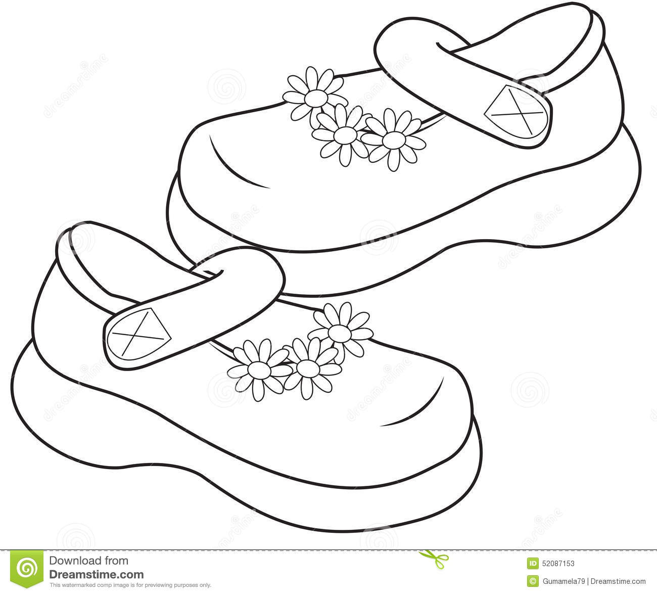 Girls Shoes Clipart Black And White 9 Clipart Station