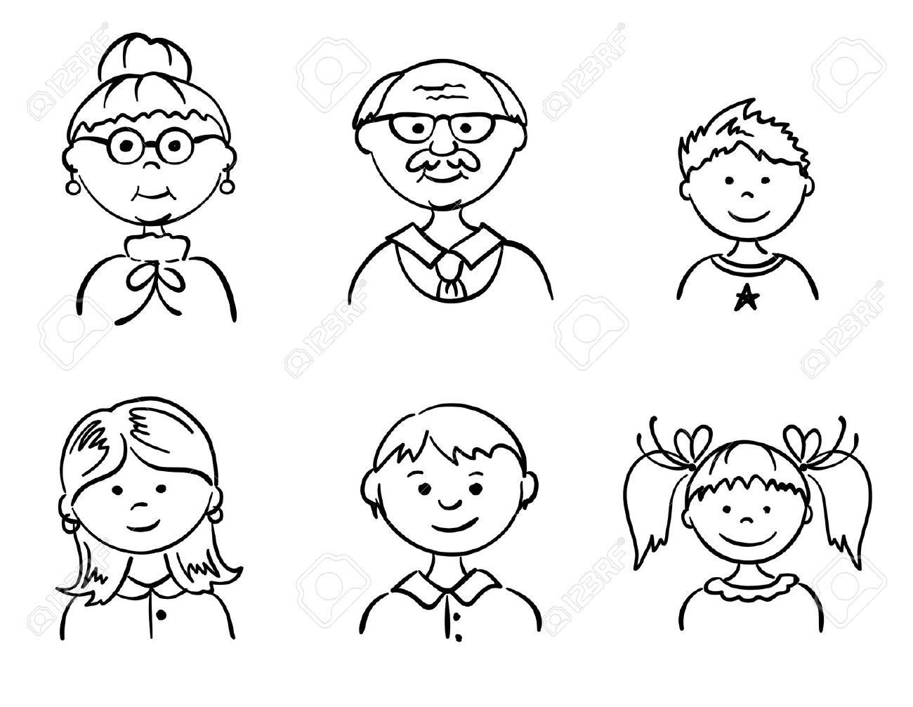 Grandparents Clipart Black And White 2 Clipart Station
