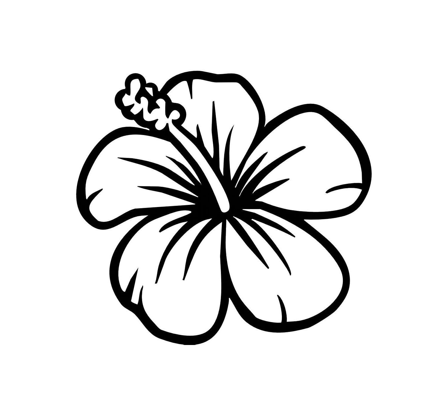 Hibiscus Clipart Black And White 1 Clipart Station
