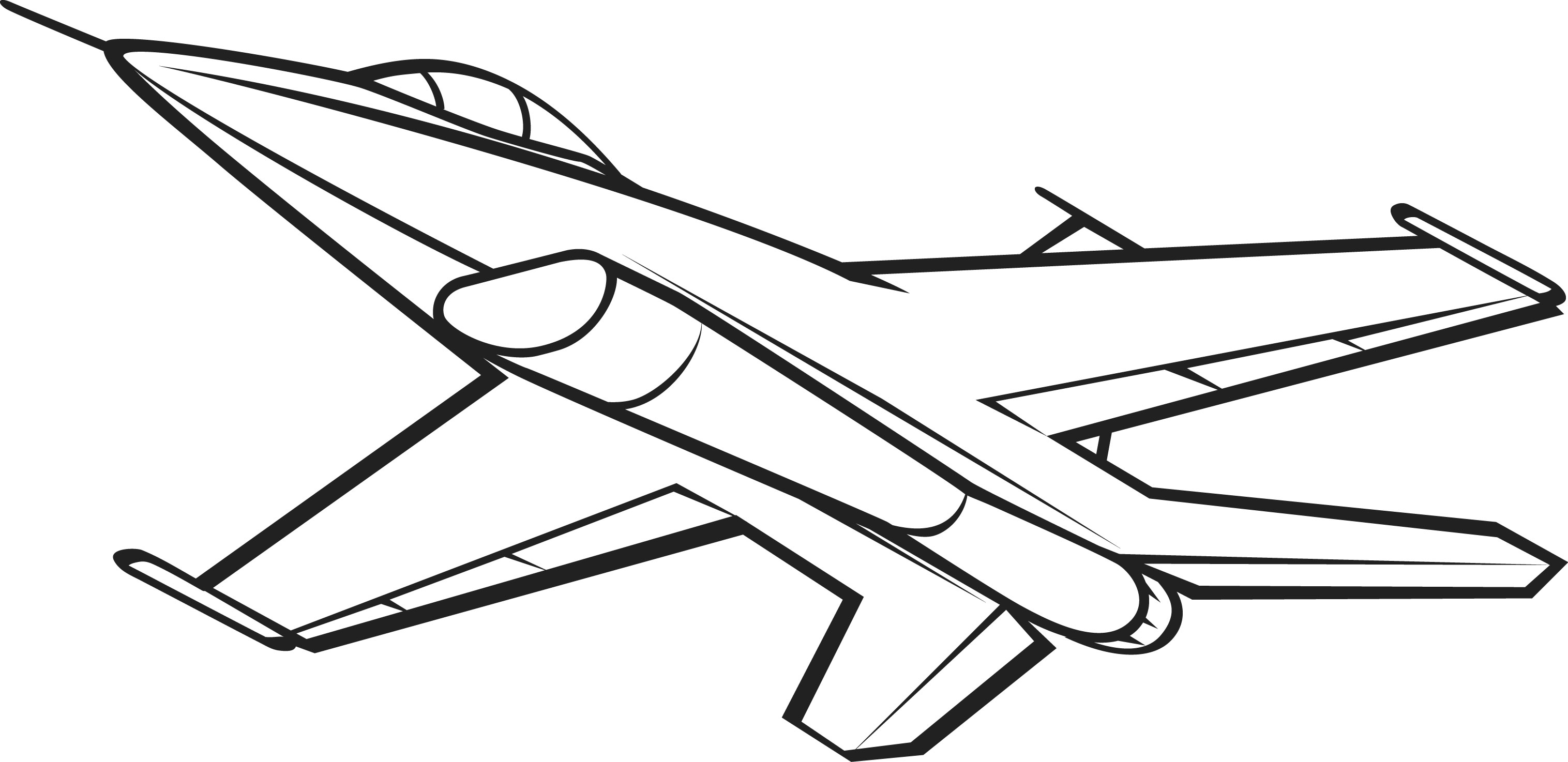 Jet Clipart Black And White 6 Clipart Station