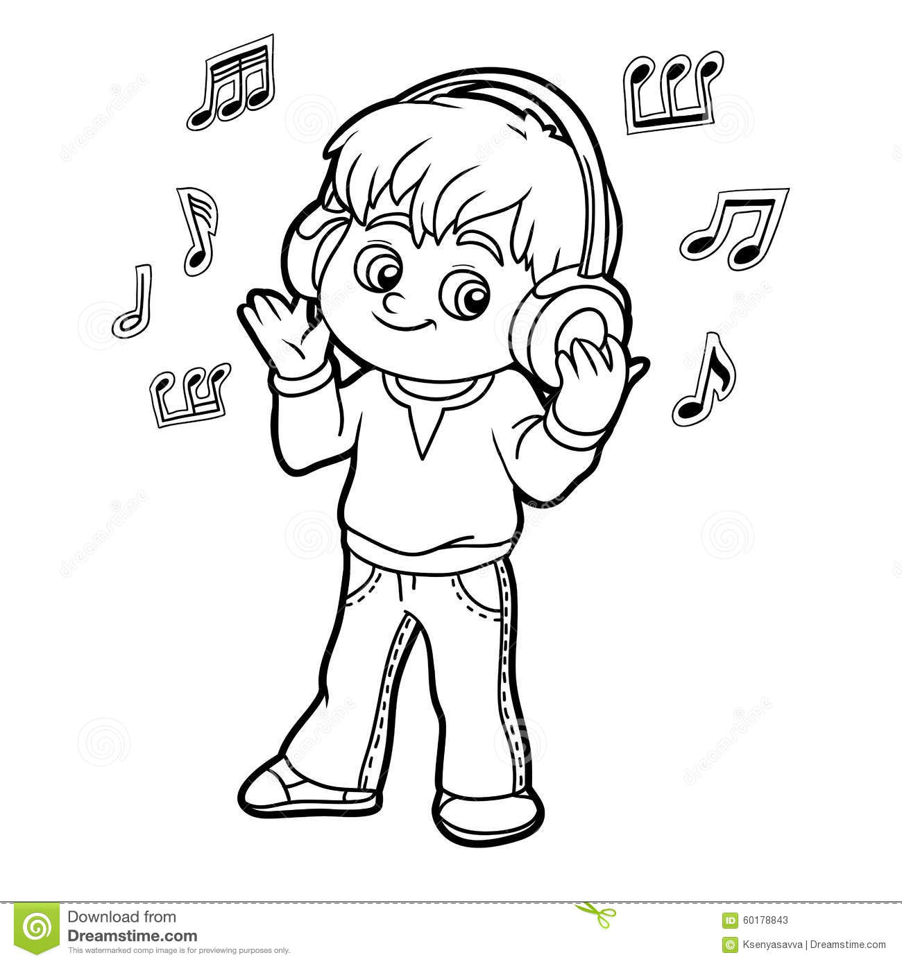 Listening To Music Clipart Black And White 1 Clipart Station