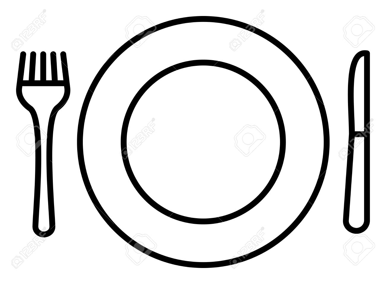 Plate Knife And Fork Icon Clipart Station