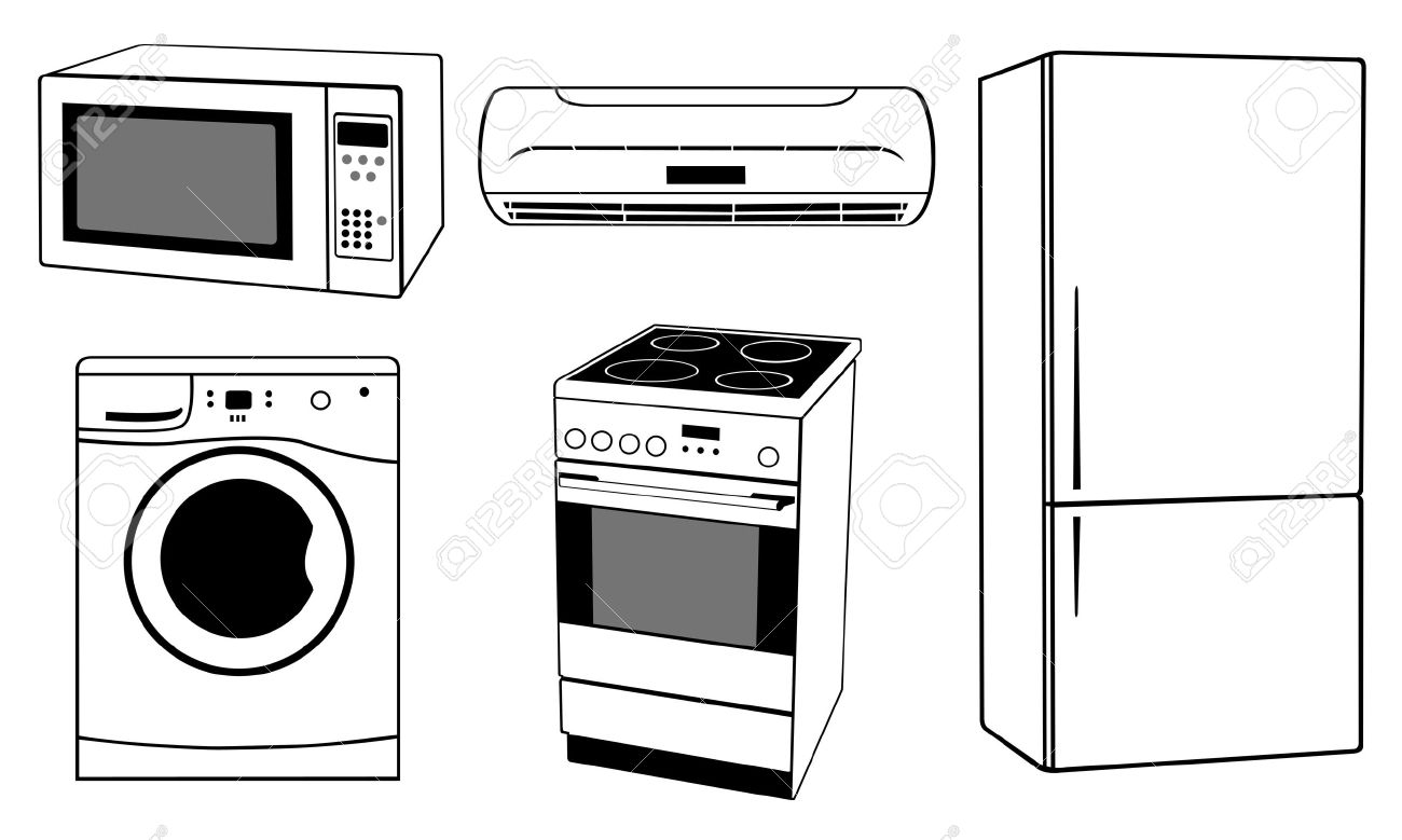 Microwave Clipart Black And White 7