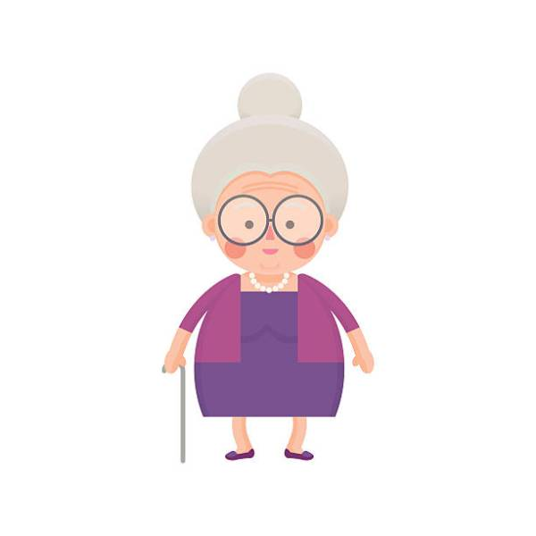 Old lady clipart 187 Clipart Station