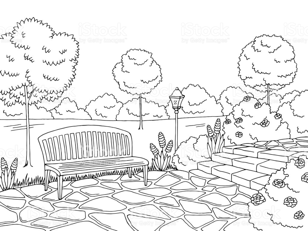 Park Clipart Black And White 4