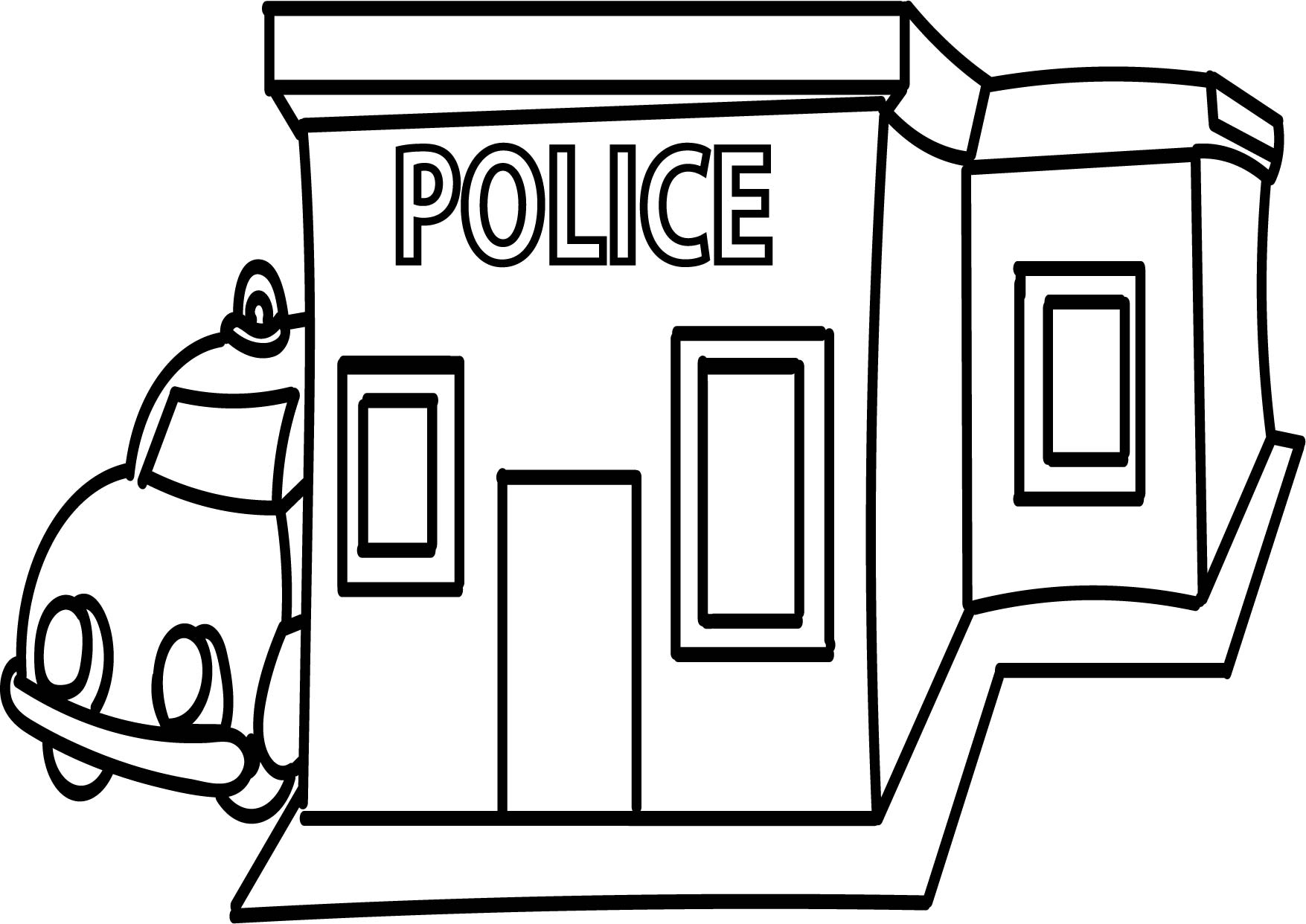 Police Station Clipart Black And White 9