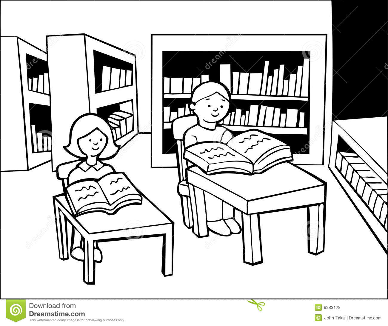 School Library Clipart Black And White 2 Clipart Station