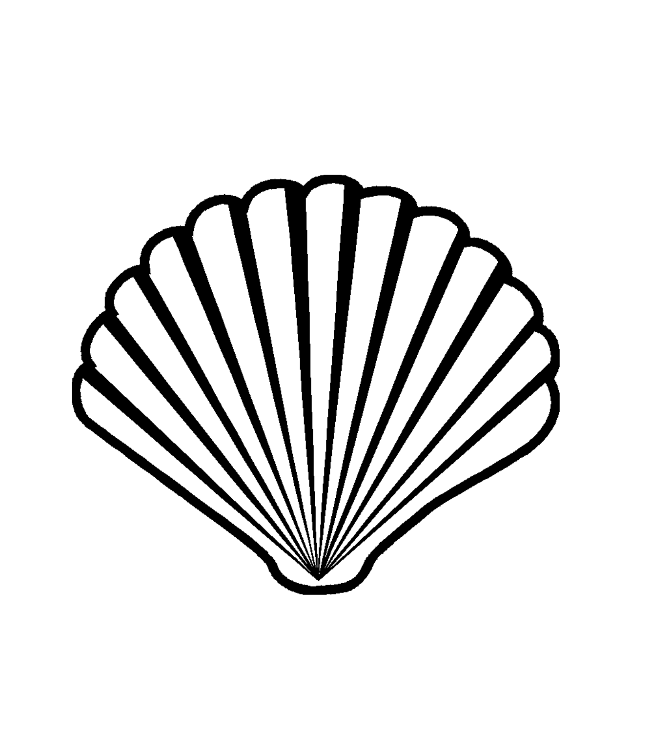 Shell Clipart Black And White 5 Clipart Station