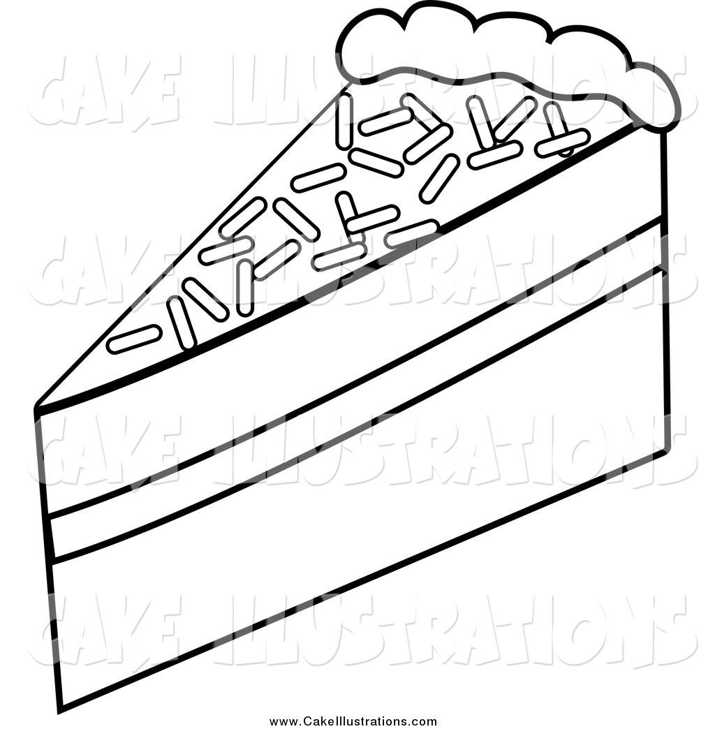 Slice Of Cake Clipart Black And White 6 Clipart Station