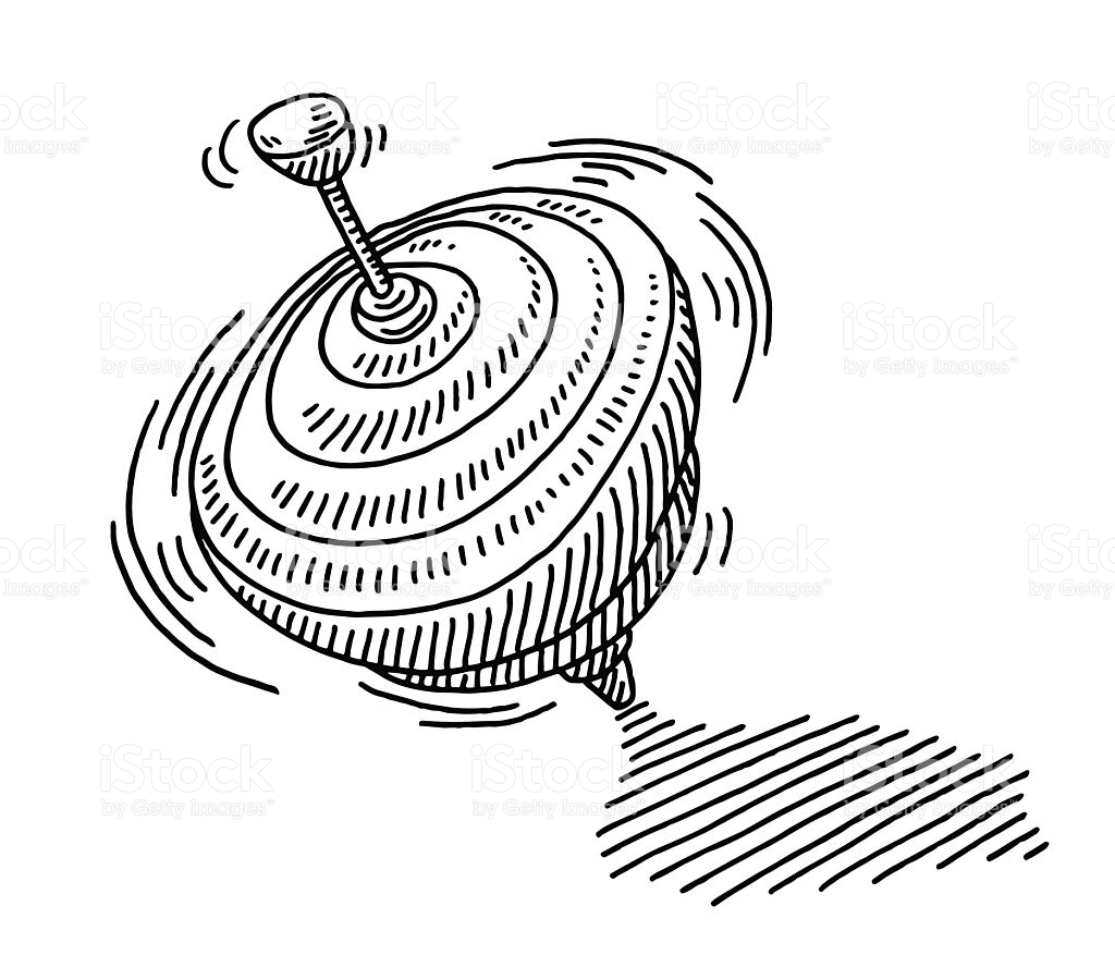 Spinning Top Clipart Black And White 5 Clipart Station