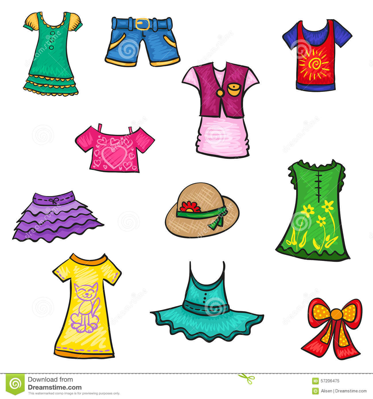 Summer Season Clothes Clipart 6 Clipart Station