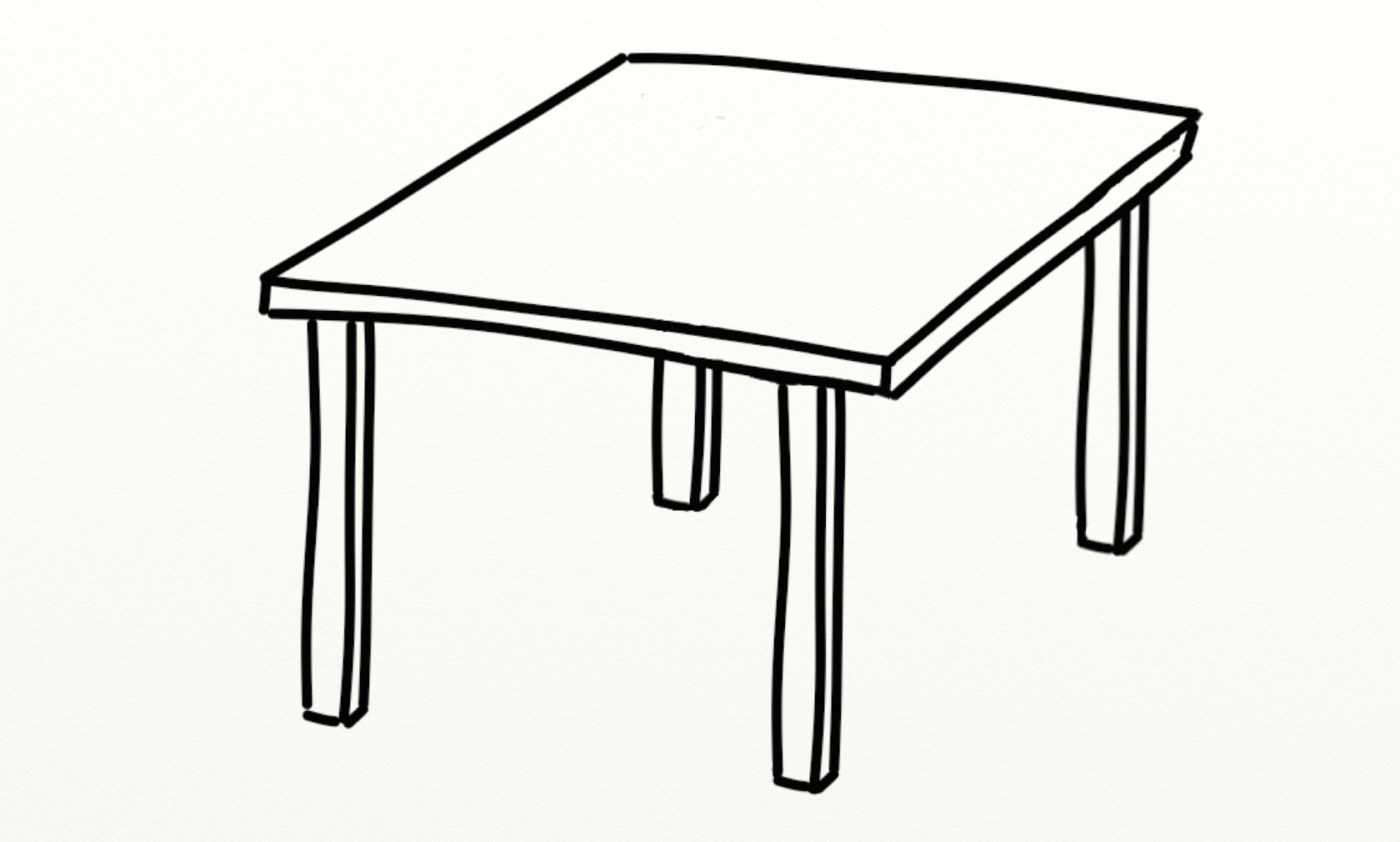 Table Black And White Clipart 6 Clipart Station