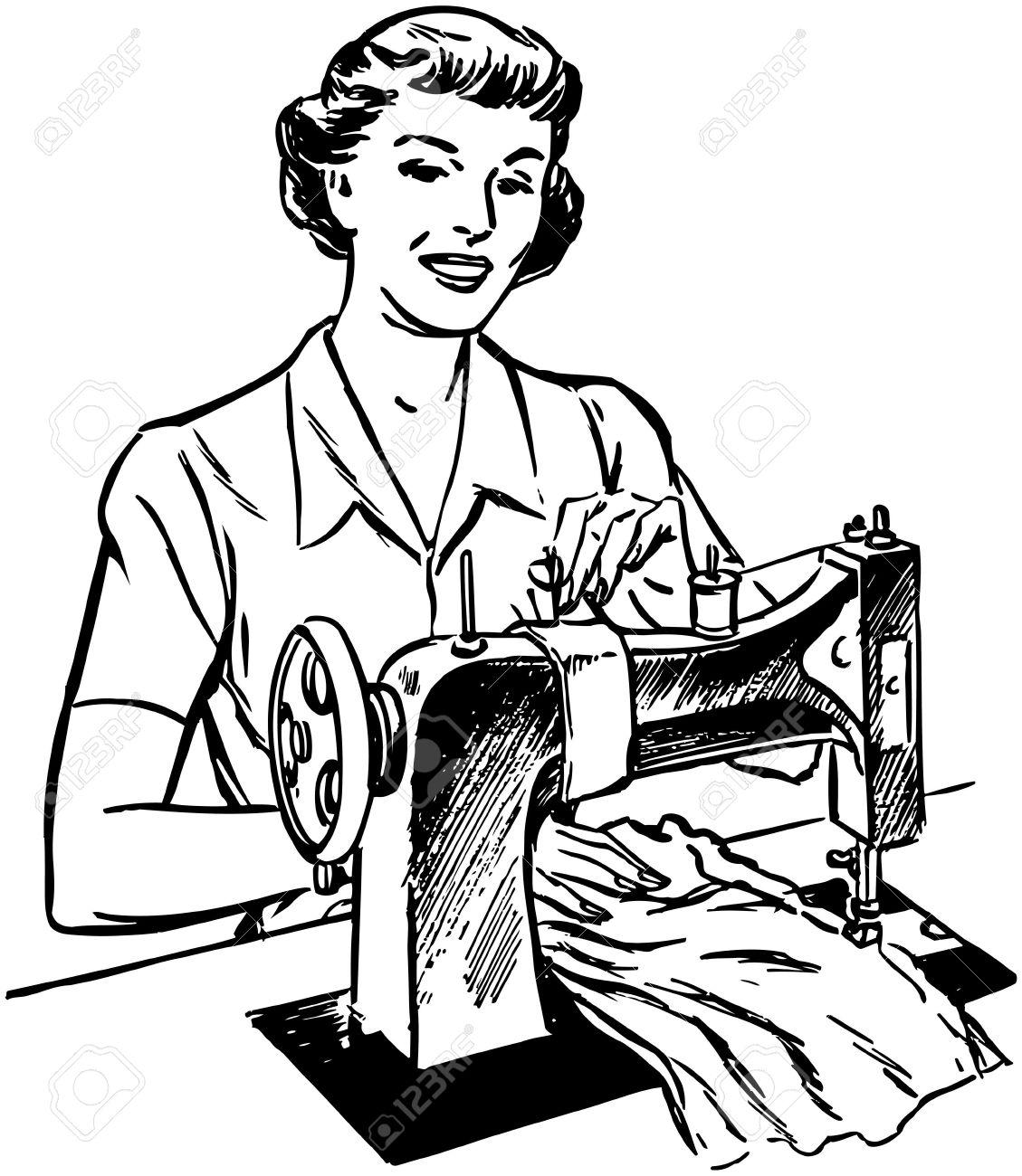 Tailor Clipart Black And White 10 Clipart Station