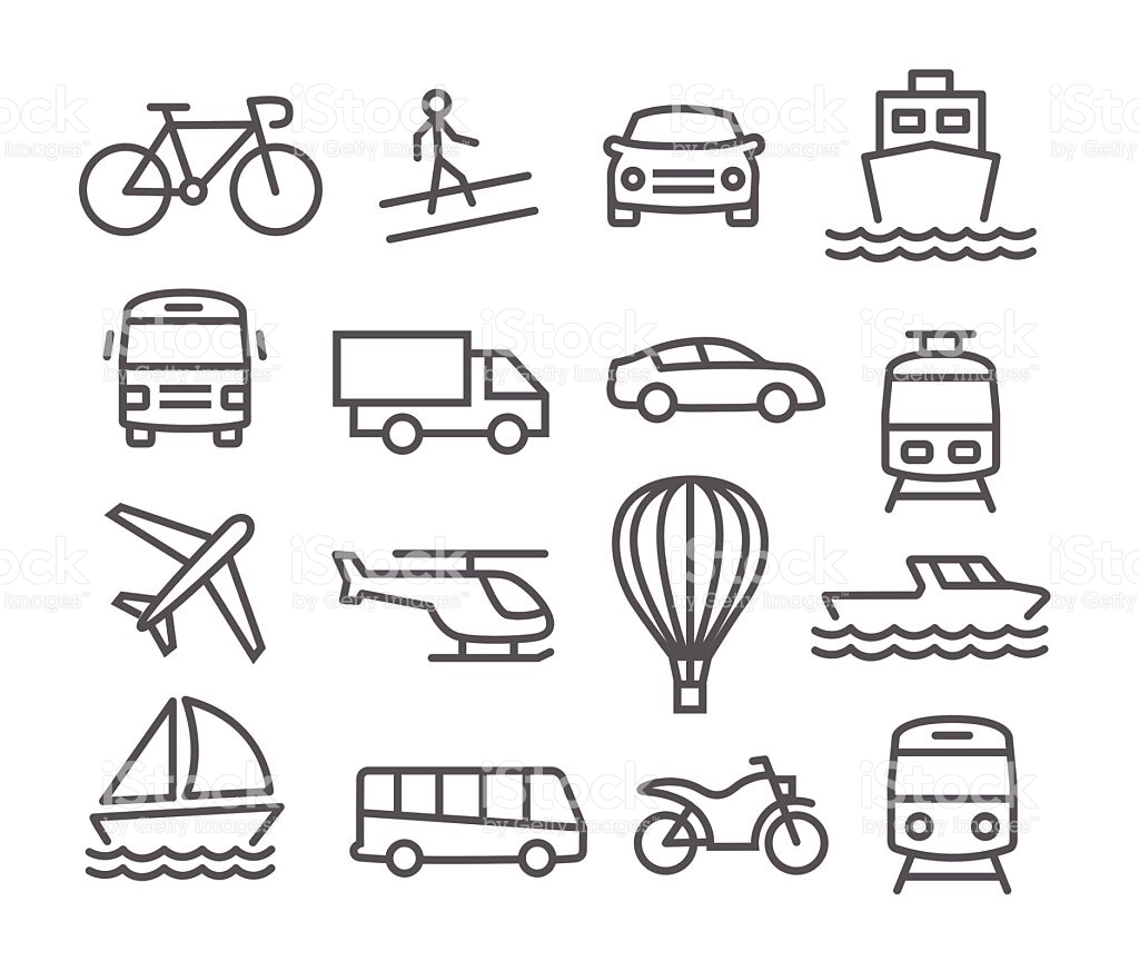 Transportation Clipart Black And White 6 Clipart Station