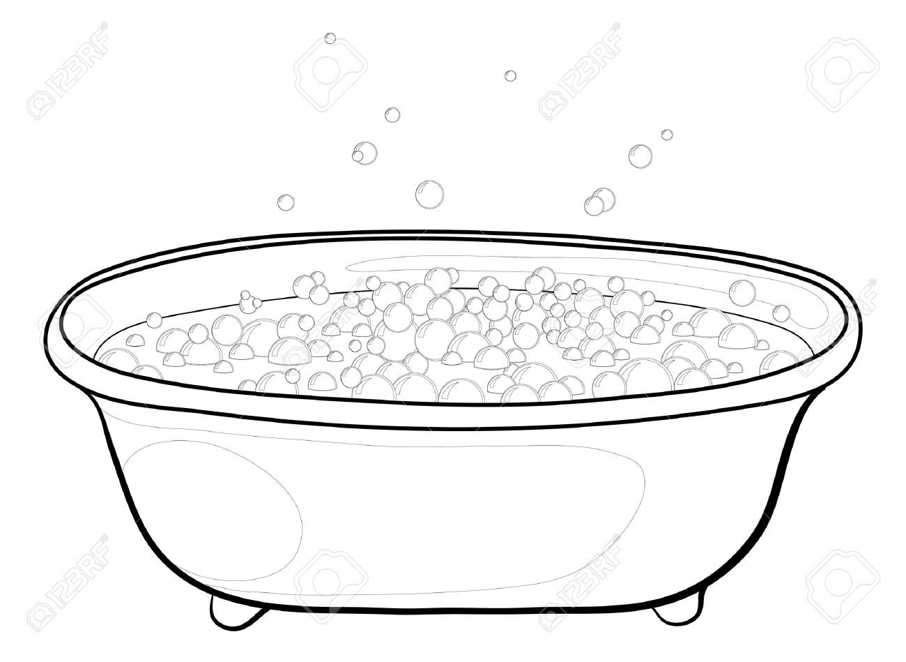 Tub Clipart Black And White 5 Clipart Station