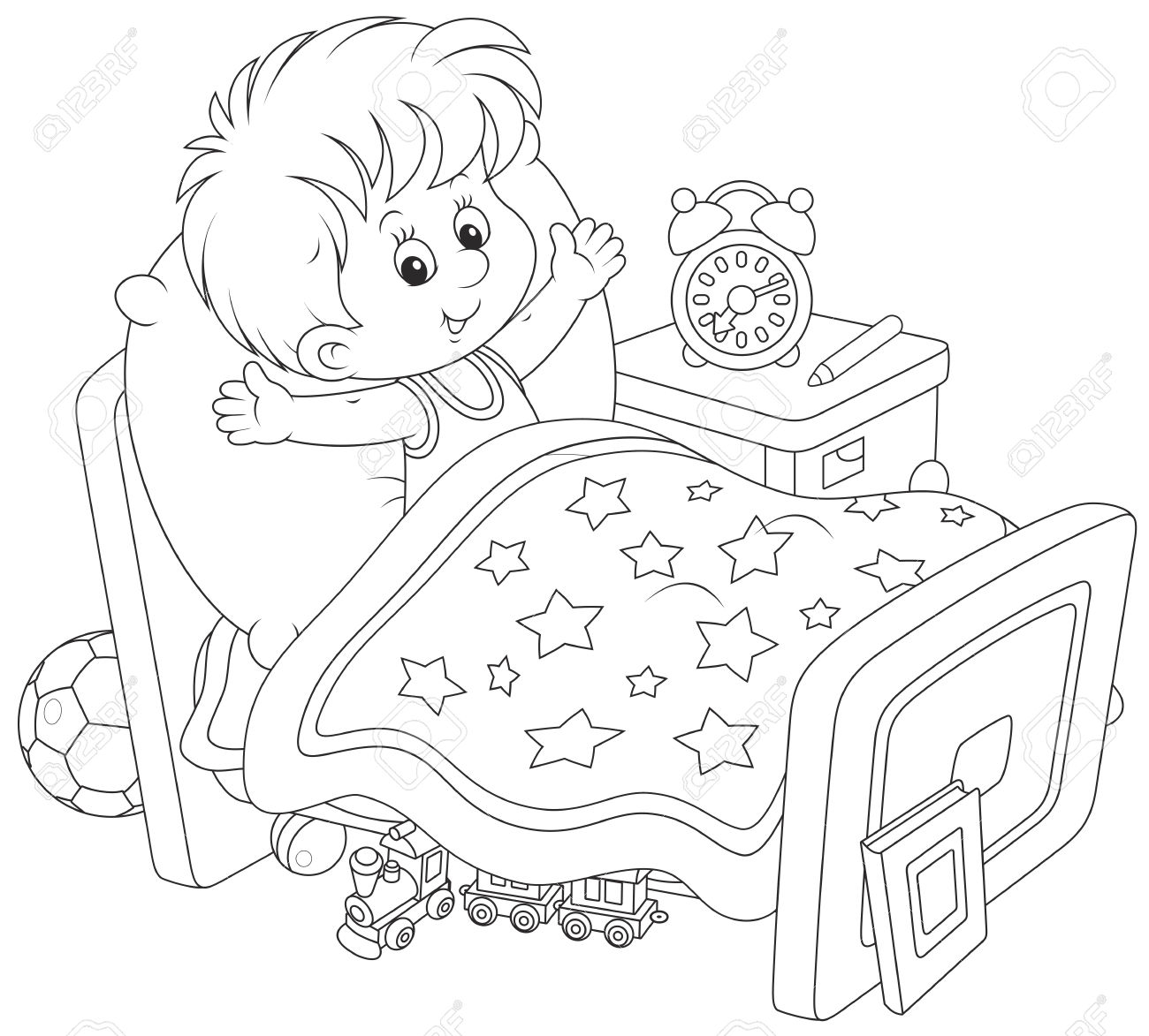 Wake Up Clipart Black And White 2 Clipart Station