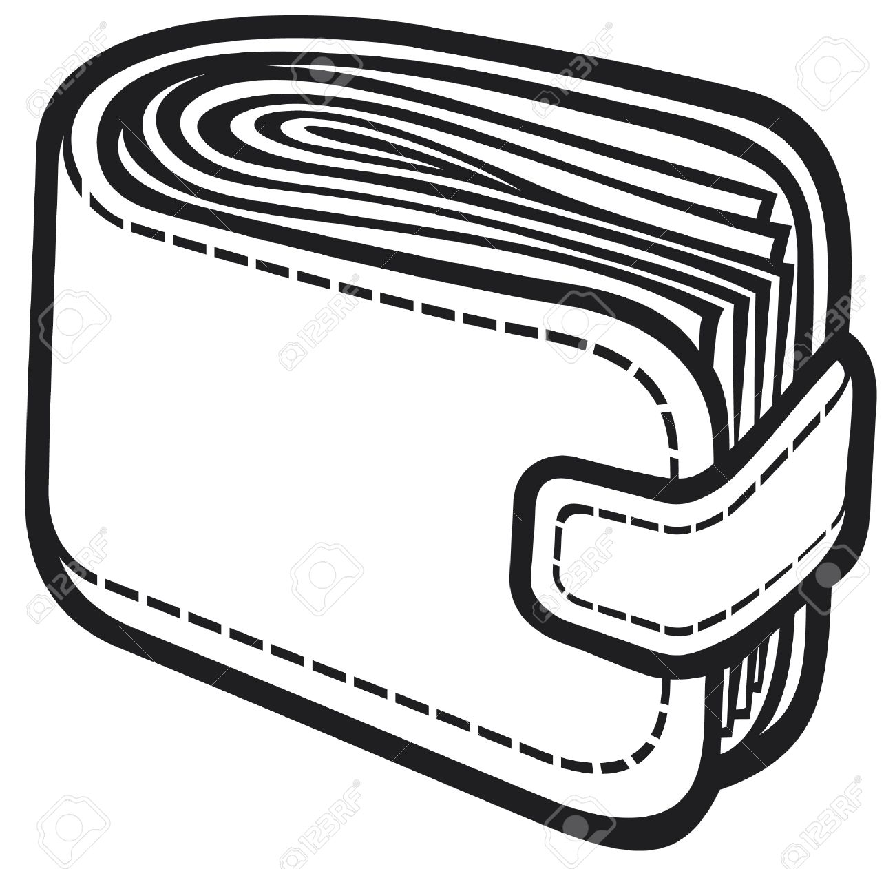 Wallet Clipart Black And White 11 Clipart Station