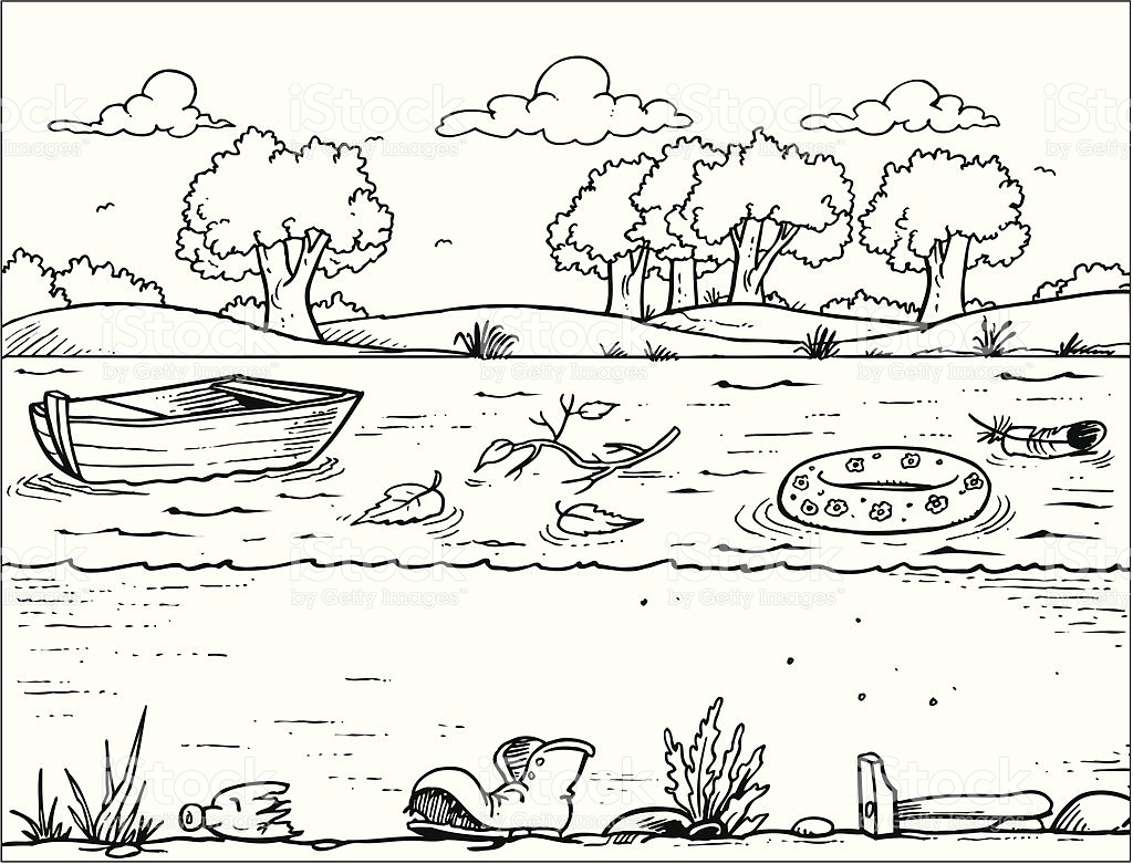 Water Pollution Clipart Black And White 5 Clipart Station