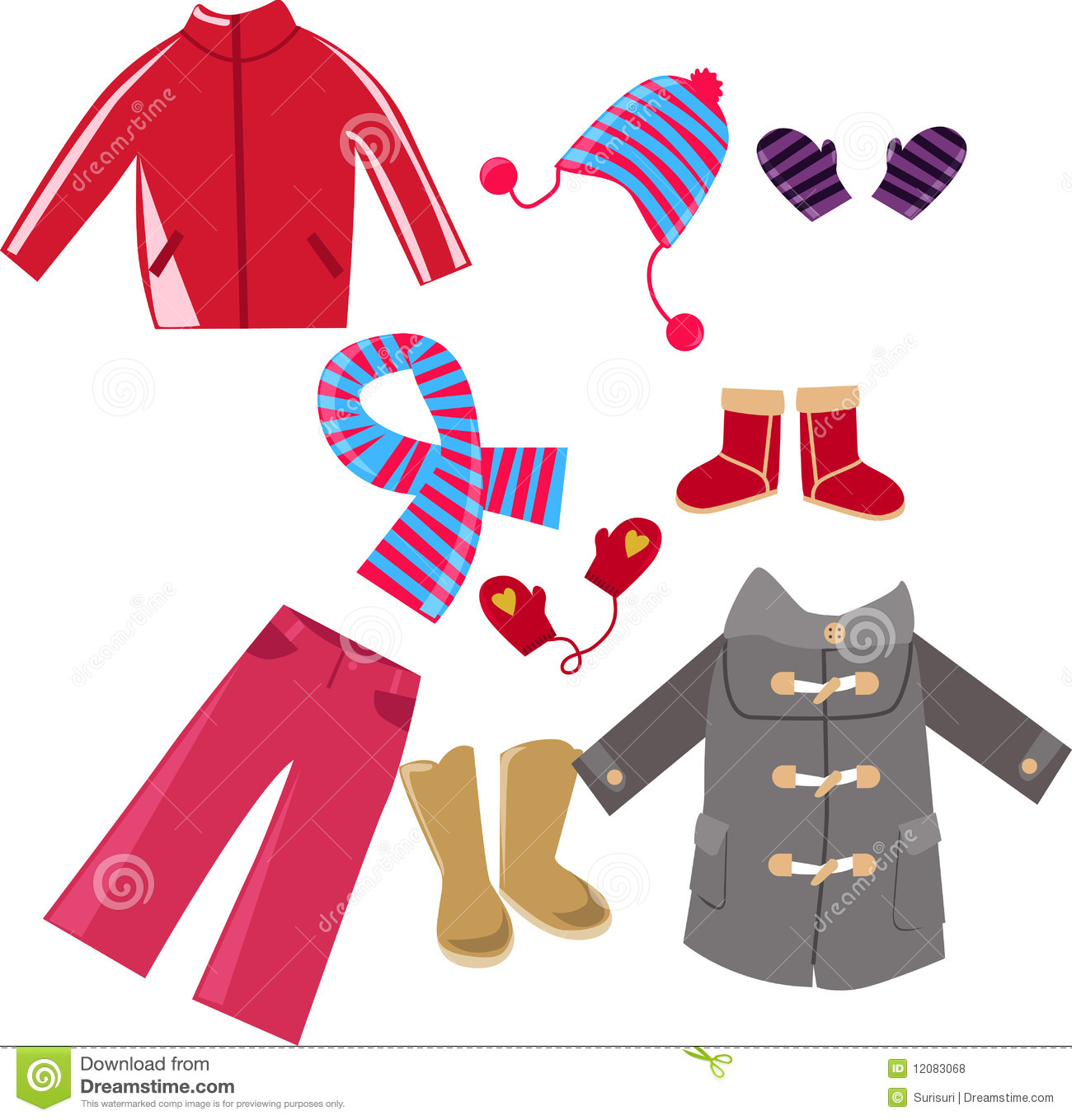 Winter Season Clothes Clipart 9 Clipart Station