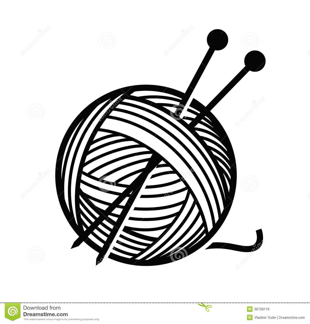 Wool Clipart Black And White Clipart Station