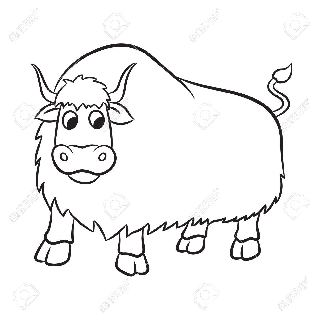 Yak Clipart Black And White 2 Clipart Station