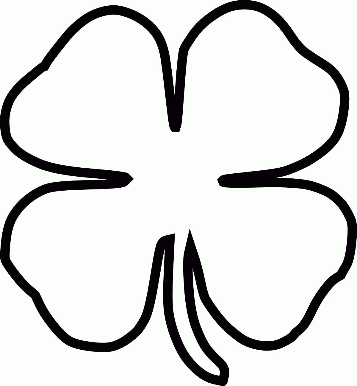 Four Leaf Clover Black And White Clipart 51 For Amazing